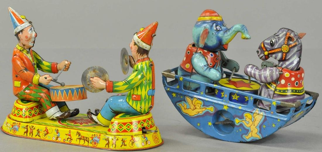 PAIR OF JAPANESE WIND-UP TOYS