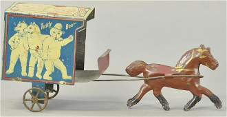 EARLY AMERICAN TEDDY BEAR DELIVERY CART