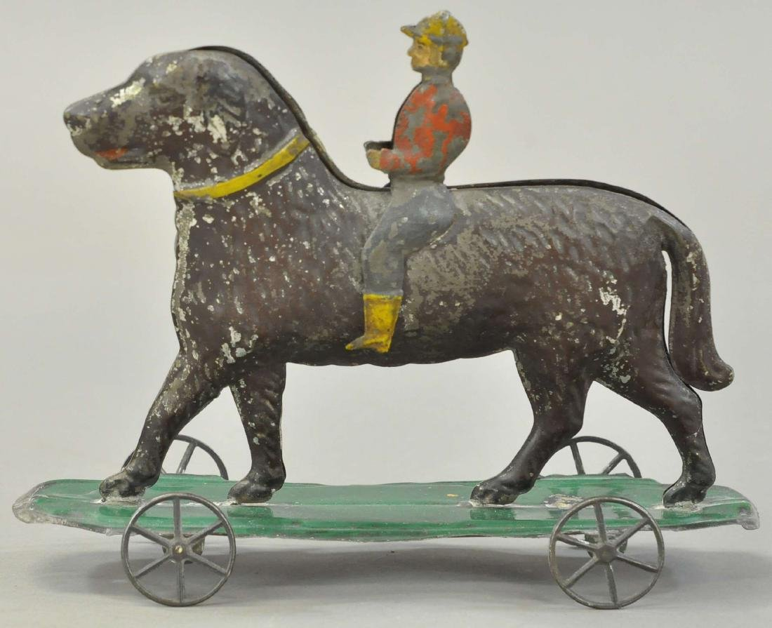 EARLY AMERICAN TIN BOY RIDING HORSE - 2