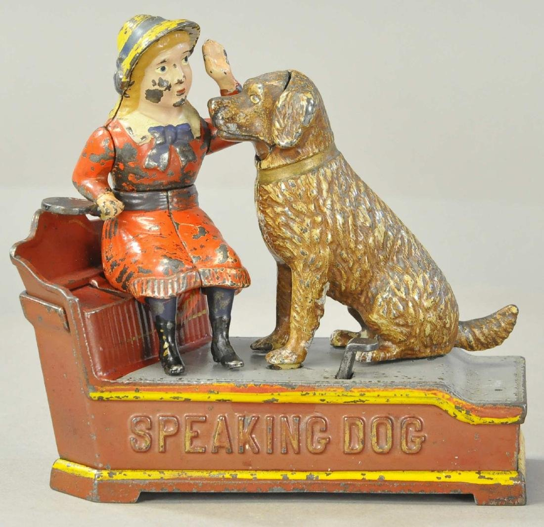 SPEAKING DOG MECHANICAL BANK - SHEPPARD HRDW