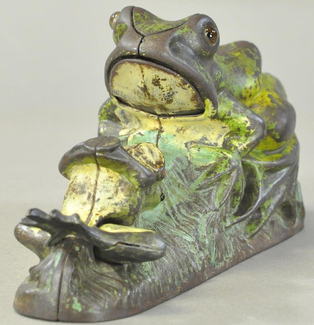 TWO FROGS MECHANICAL BANK - 2