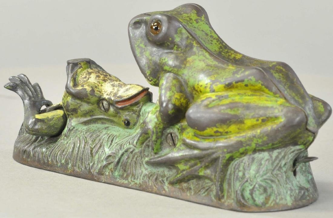 TWO FROGS MECHANICAL BANK - 3