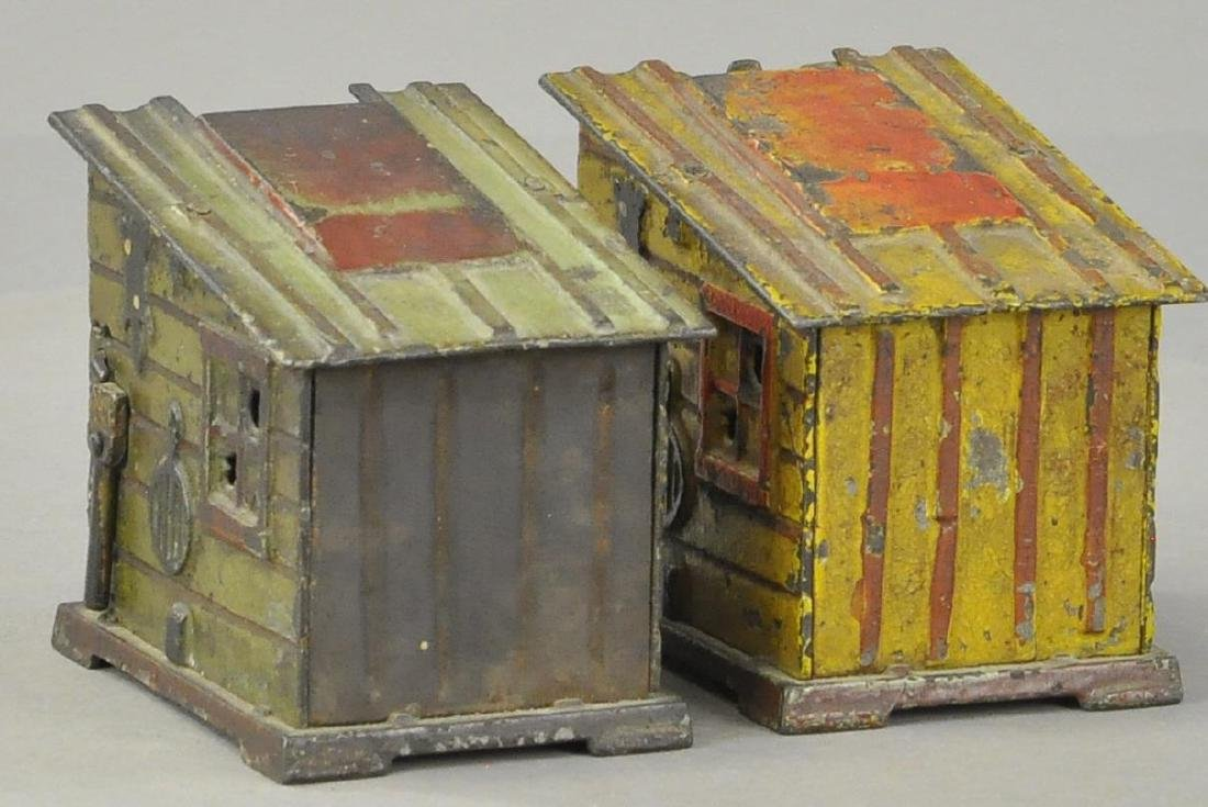 PAIR OF CABIN MECHANICAL BANKS - 2