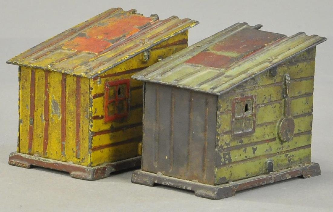 PAIR OF CABIN MECHANICAL BANKS - 3