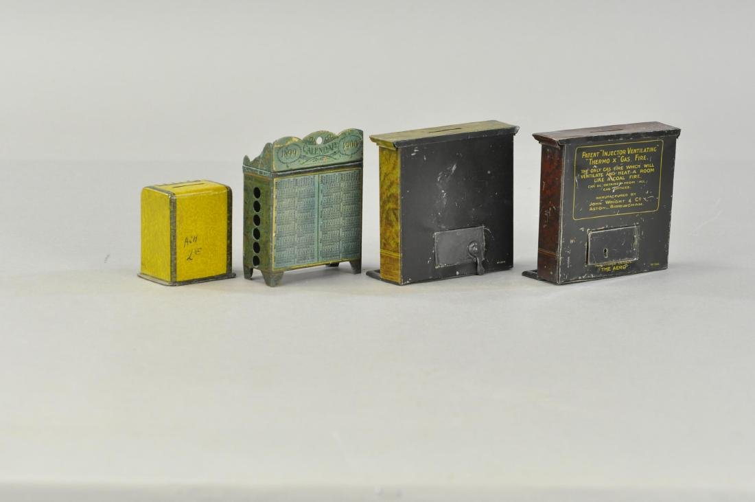 GROUP OF LITHOGRAPHED TIN STILL BANKS - 2