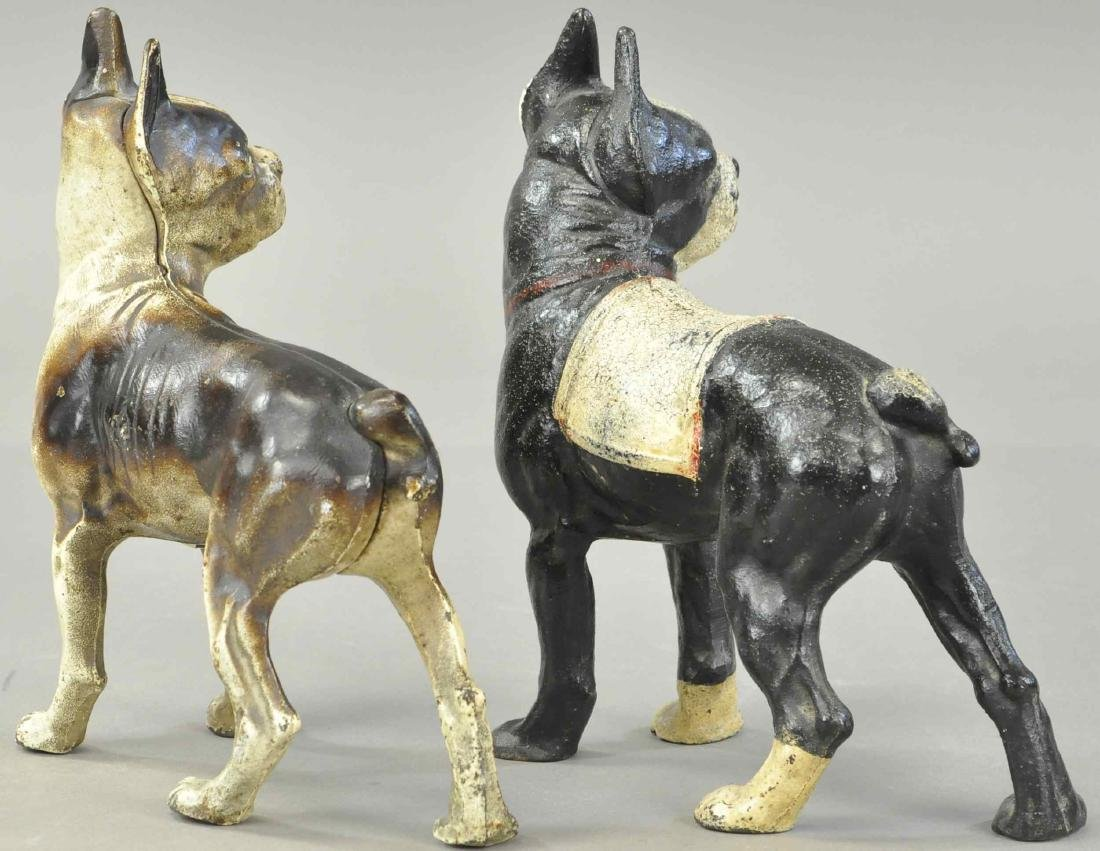 PAIR OF BOSTON TERRIER DOORSTOPS - 3
