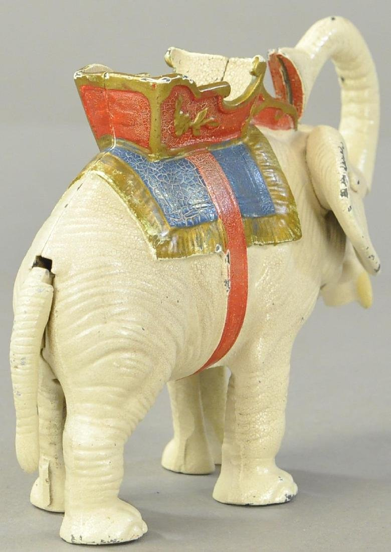 HUBLEY ELEPHANT PULL TAIL MECHANICAL BANK - 2