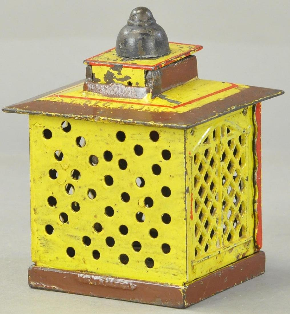 HALLS EXCELSIOR MECHANICAL BANK - YELLOW/RED - 3