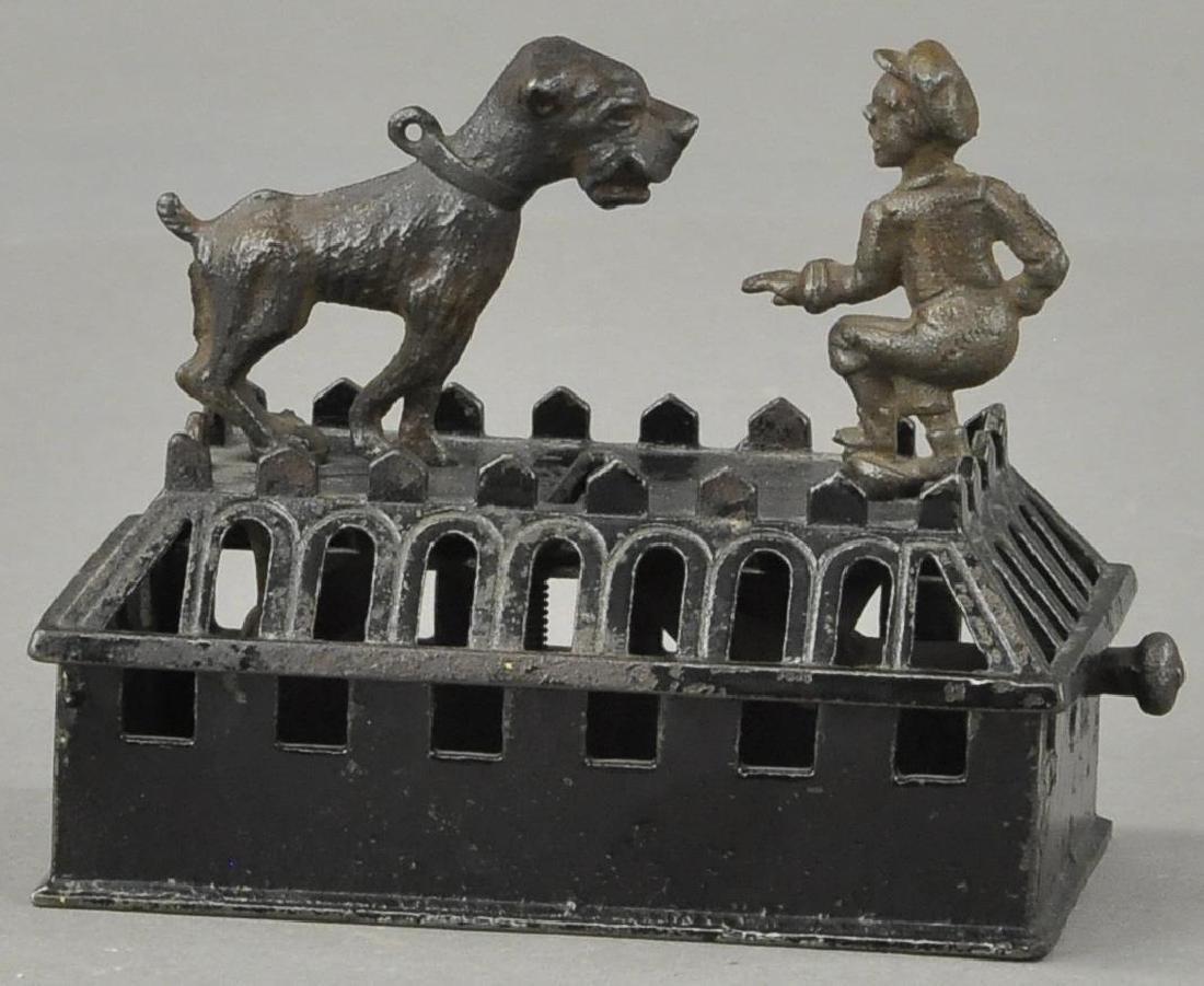 JUDD BOY & BULL DOG MECHANICAL BANK - 3