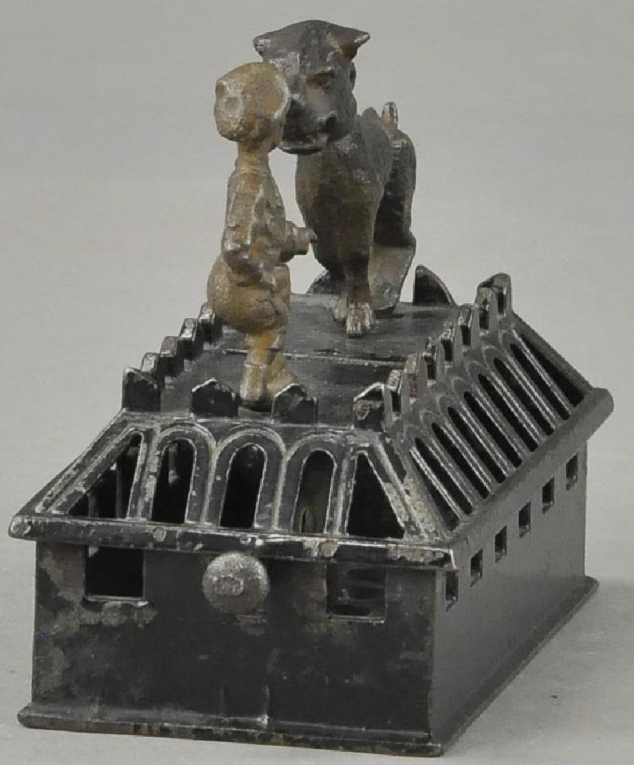 JUDD BOY & BULL DOG MECHANICAL BANK - 4