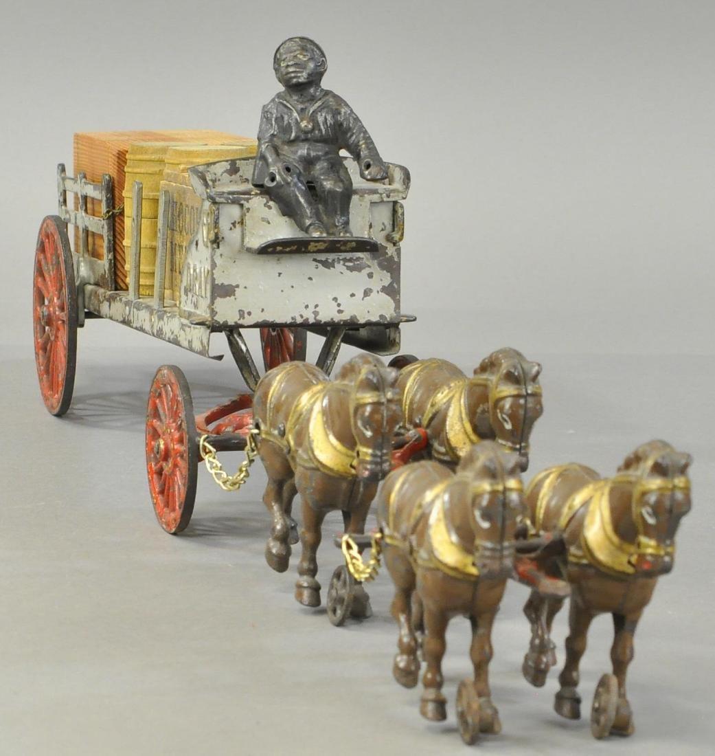 HUBLEY FOUR HORSES DRAY CART - 2