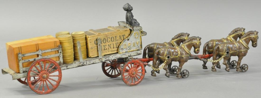 HUBLEY FOUR HORSES DRAY CART - 3