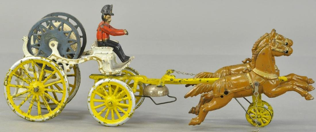 DENT HORSE DRAWN FIRE HOSE WAGON