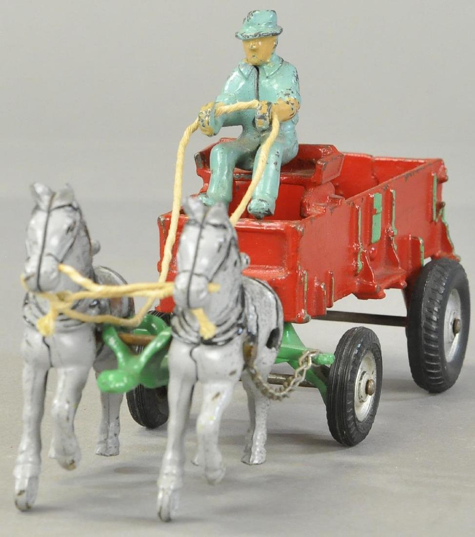 ARCADE HORSE DRAWN FARM WAGON - 2