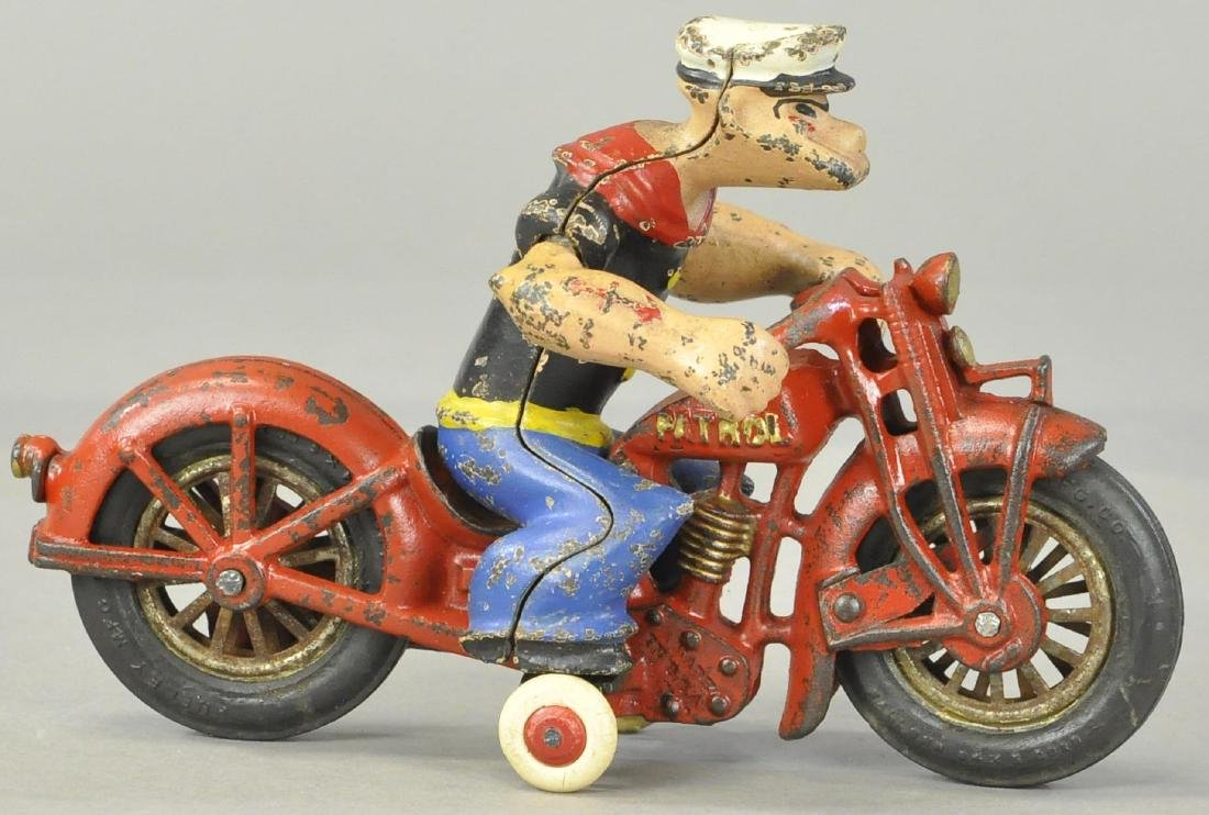 HUBLEY POPEYE ON MOTORCYCLE