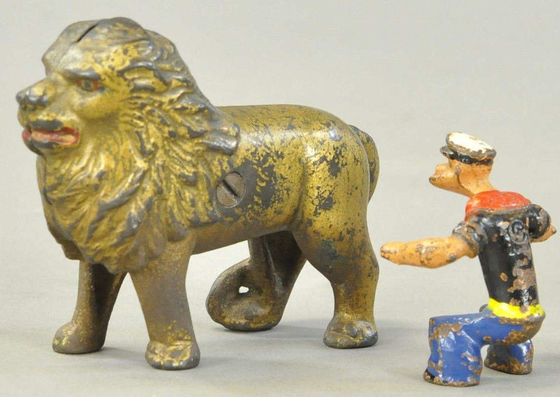 LION STILL BANK & POPEYE FIGURE - 2