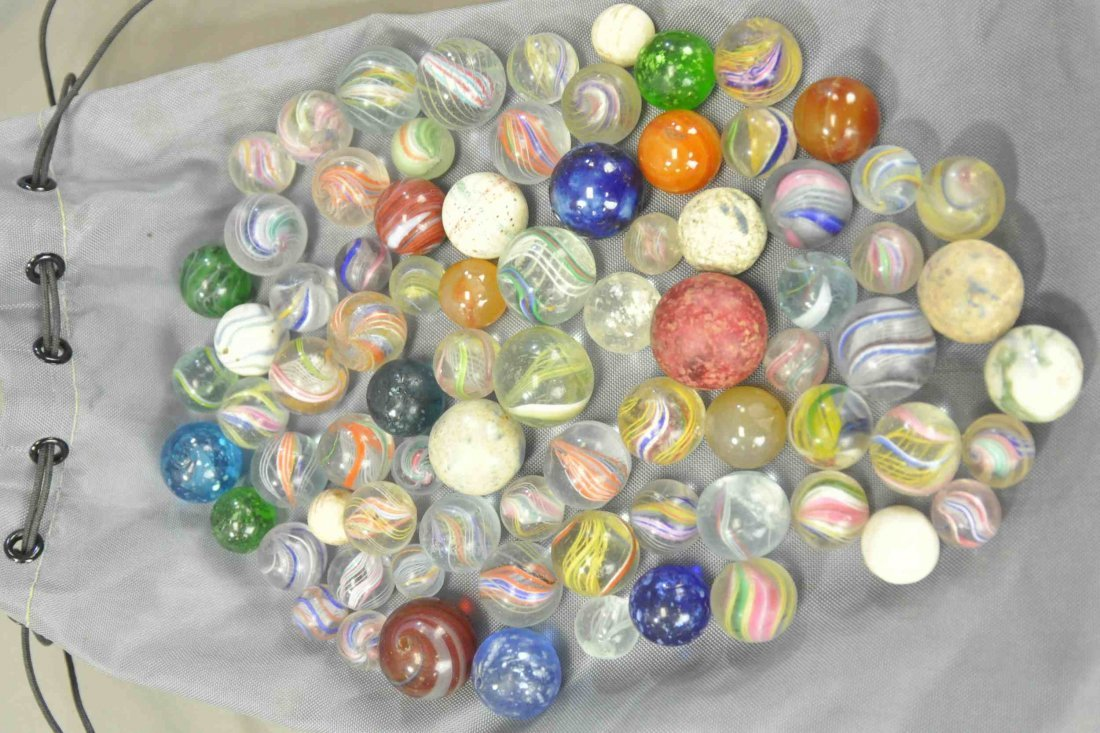 THREE BAGS OF MIXED MARBLES - 2