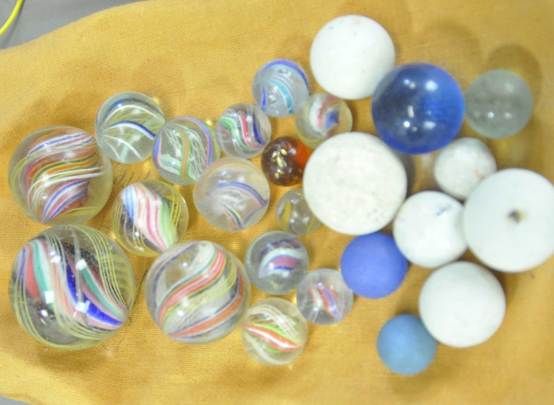THREE BAGS OF MIXED MARBLES - 3