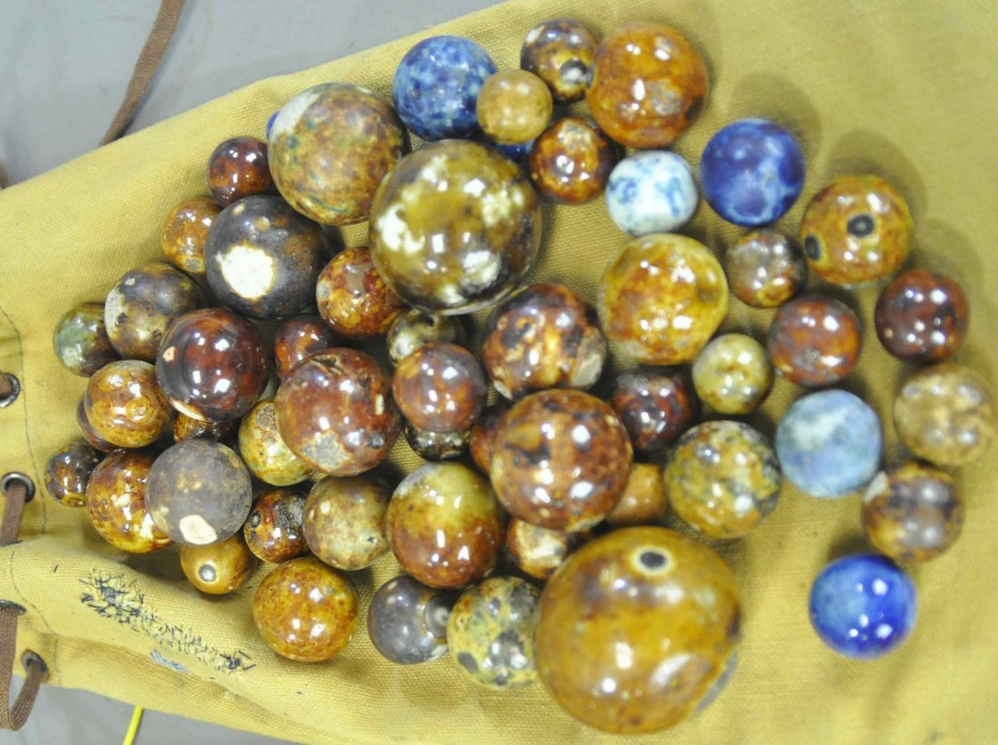 THREE BAGS OF MIXED MARBLES - 4