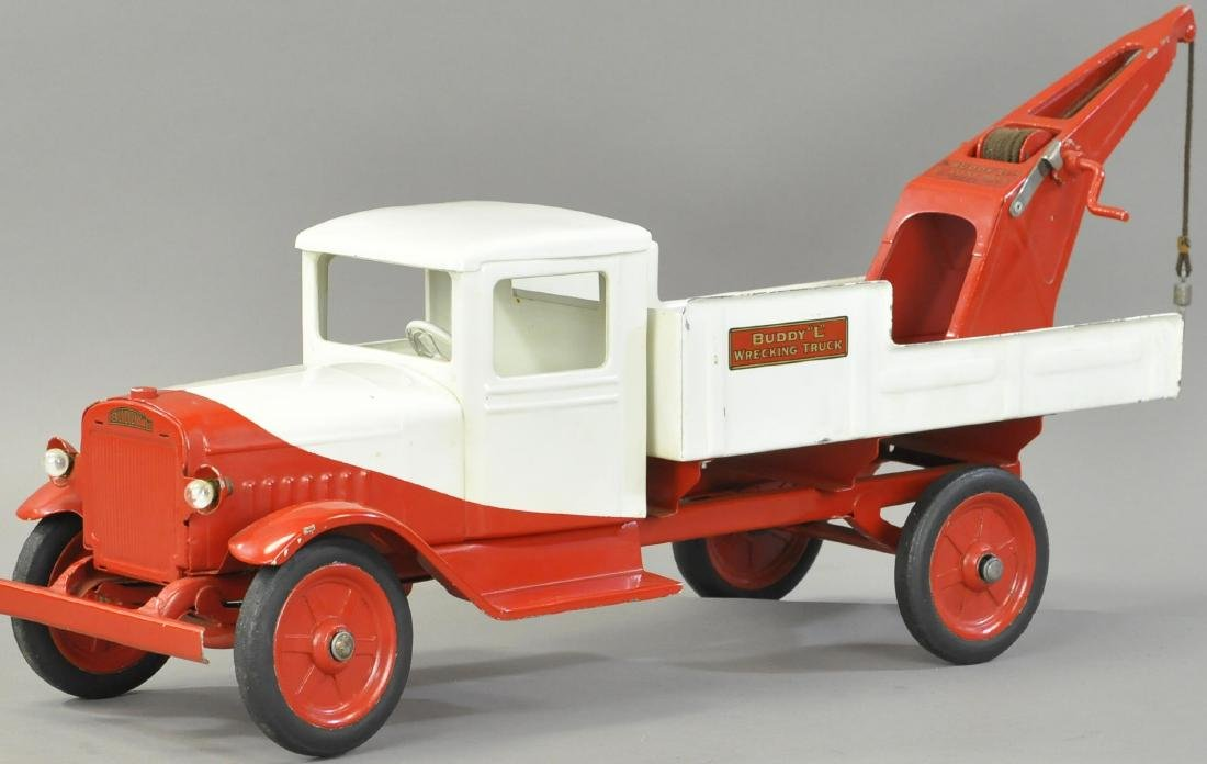 BUDDY L WRECKING TRUCK - SQUARE CAB