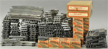 LOT OF O GAUGE TRACK, TIES, AND AMERICAN FLYER