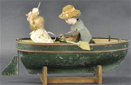 LADY AND GIRL IN ROWBOAT AUTAMATA