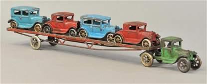 LARGE ARCADE MODEL A CAR CARRIER
