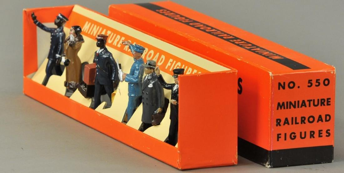 BOXED MTH LIONEL NO. 550 MINIATURE RAILROAD FIGURES - 3