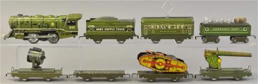 MARX MILITARY TRAIN SET