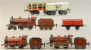 GROUP OF MARKLIN LOCOMOTIVES AND GERMAN FREIGHTS