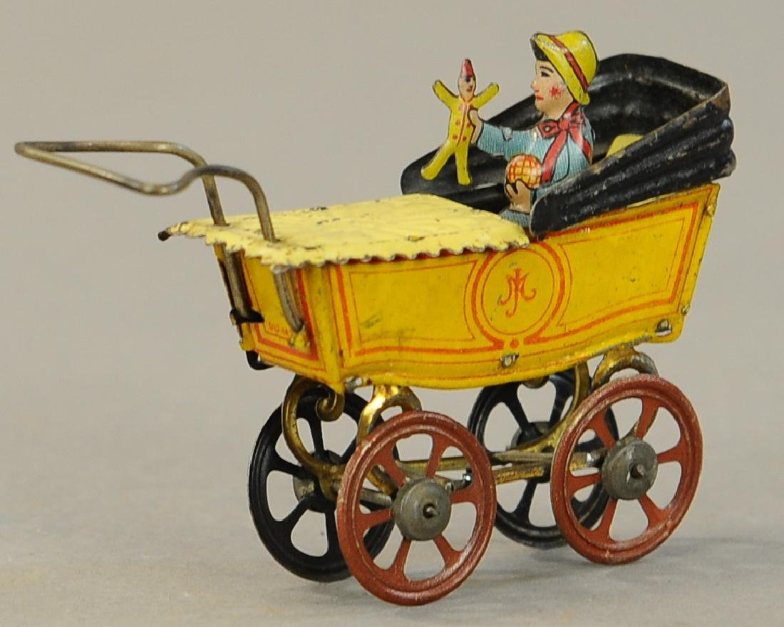 MEIER BABY CARRIAGE W/ DOLL PENNY TOY