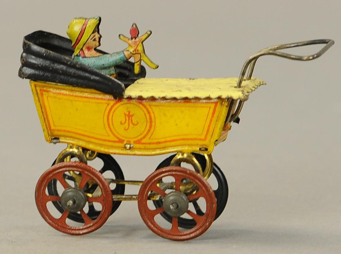 MEIER BABY CARRIAGE W/ DOLL PENNY TOY - 3