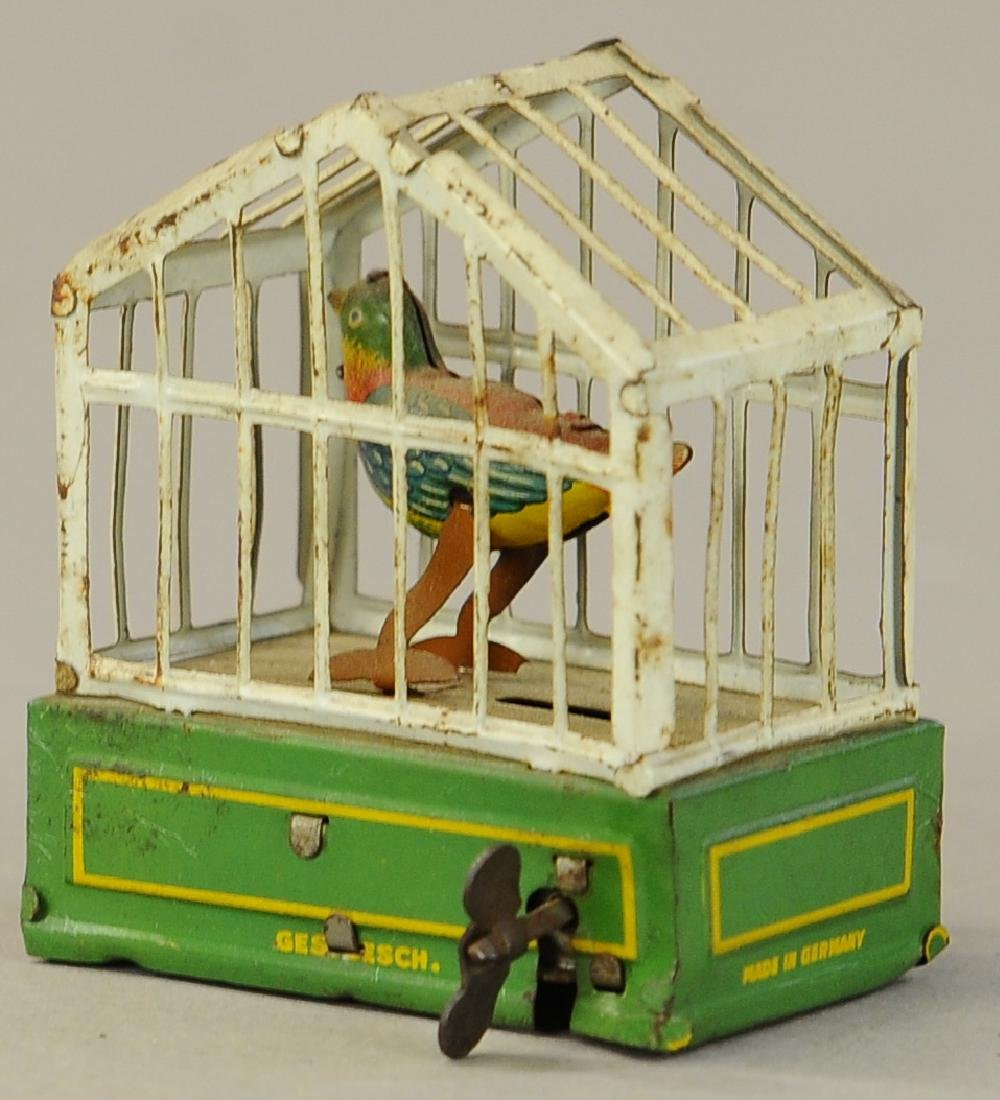 WIND-UP BIRD IN CAGE PENNY TOY - 3