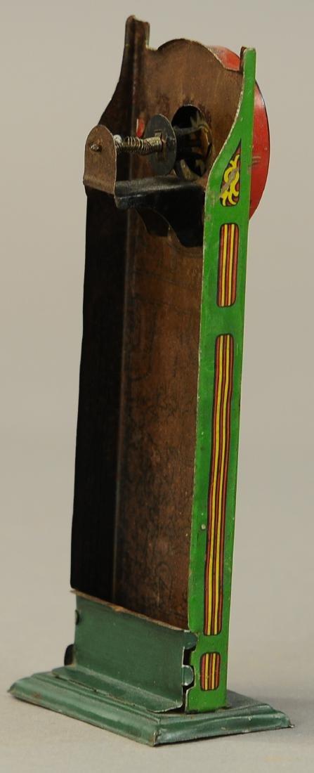 UNUSUAL GERMAN TIN GNOME THEMED CLOCK - 3