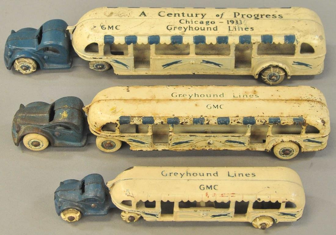 LOT OF 3 CENTURY PROGRESS BUSES