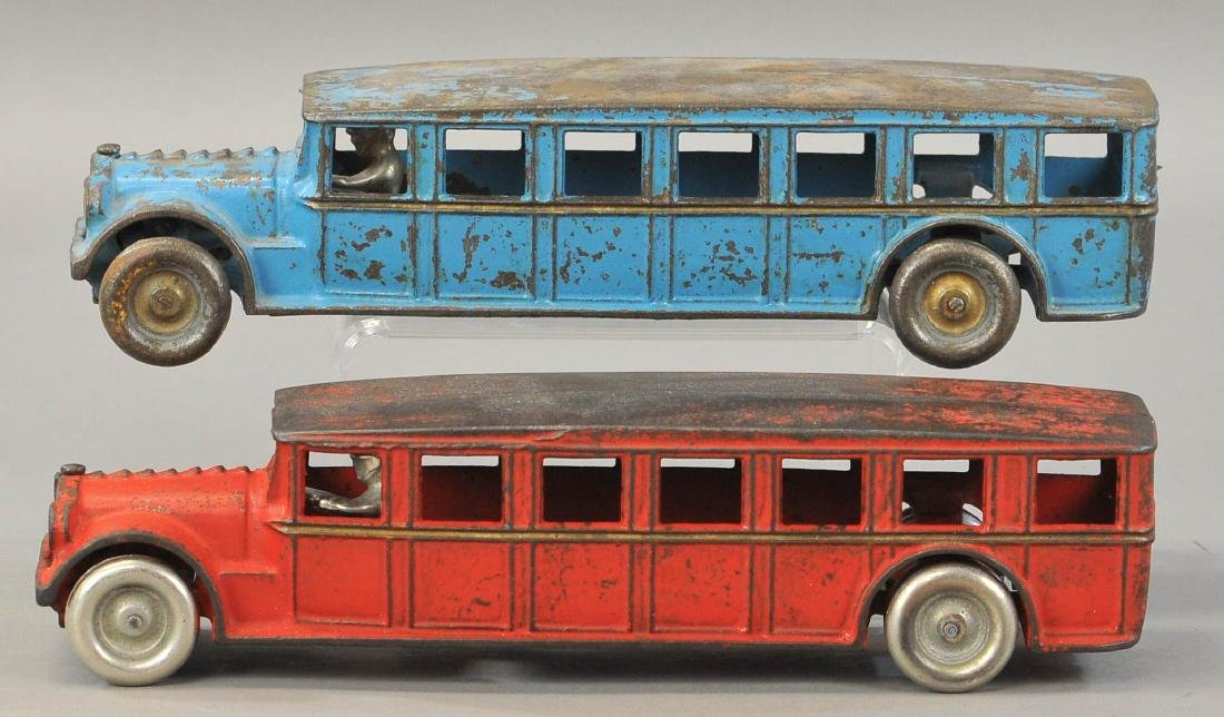 PAIR OF ARCADE FAGEOL BUSES