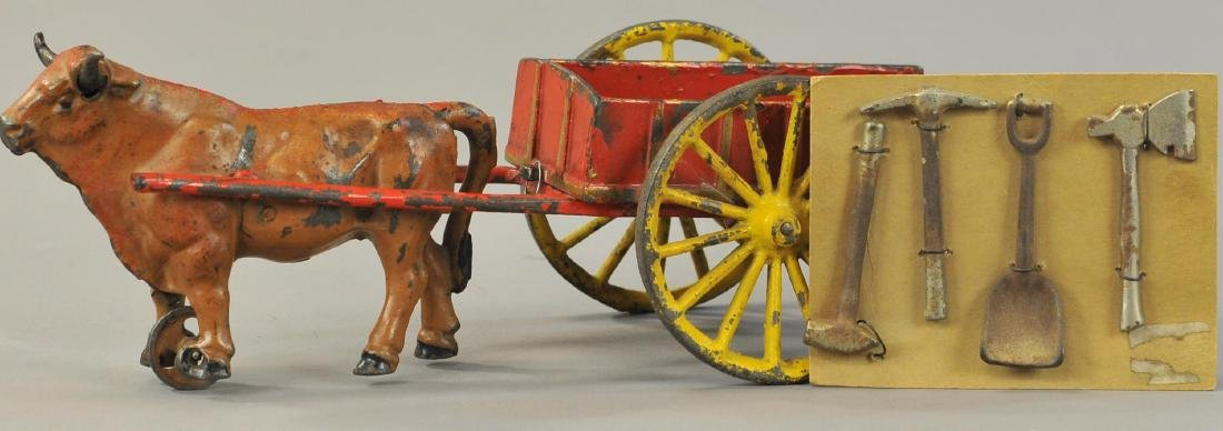 HUBLEY OXEN CART WITH TOOLS
