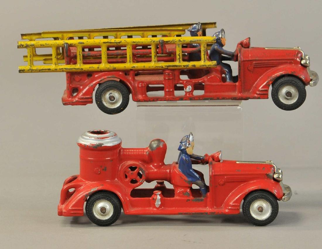 PAIR OF ARCADE PONTIAC FIRE TRUCKS