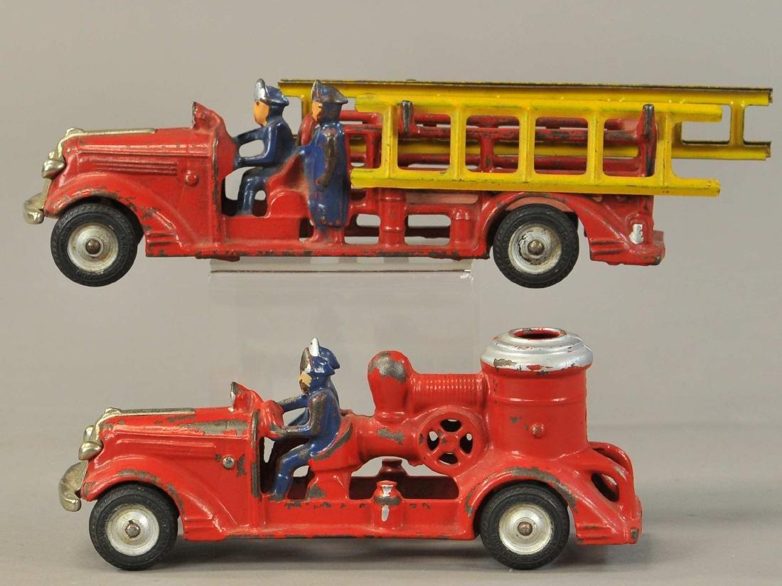 PAIR OF ARCADE PONTIAC FIRE TRUCKS - 2