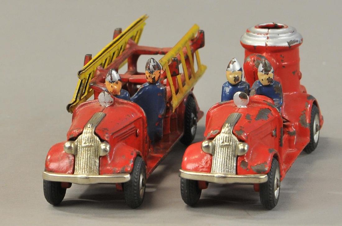 PAIR OF ARCADE PONTIAC FIRE TRUCKS - 3