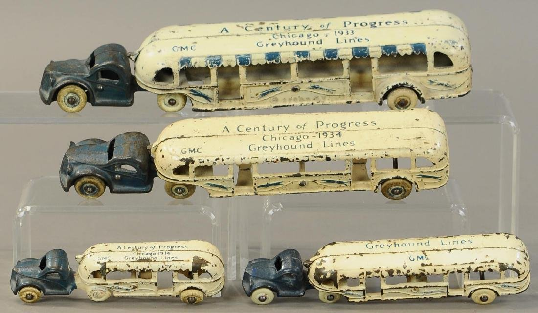 VARIED ARCADE CENTURY OF PROGRESS BUSES GROUP