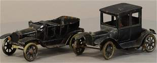 PAIR OF BING FORD MODEL AUTOS