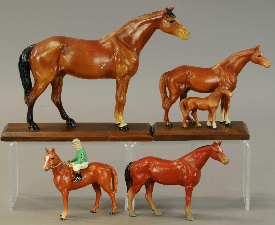 GROUPING OF HUBLEY HORSE DESKTOP NOVELTIES