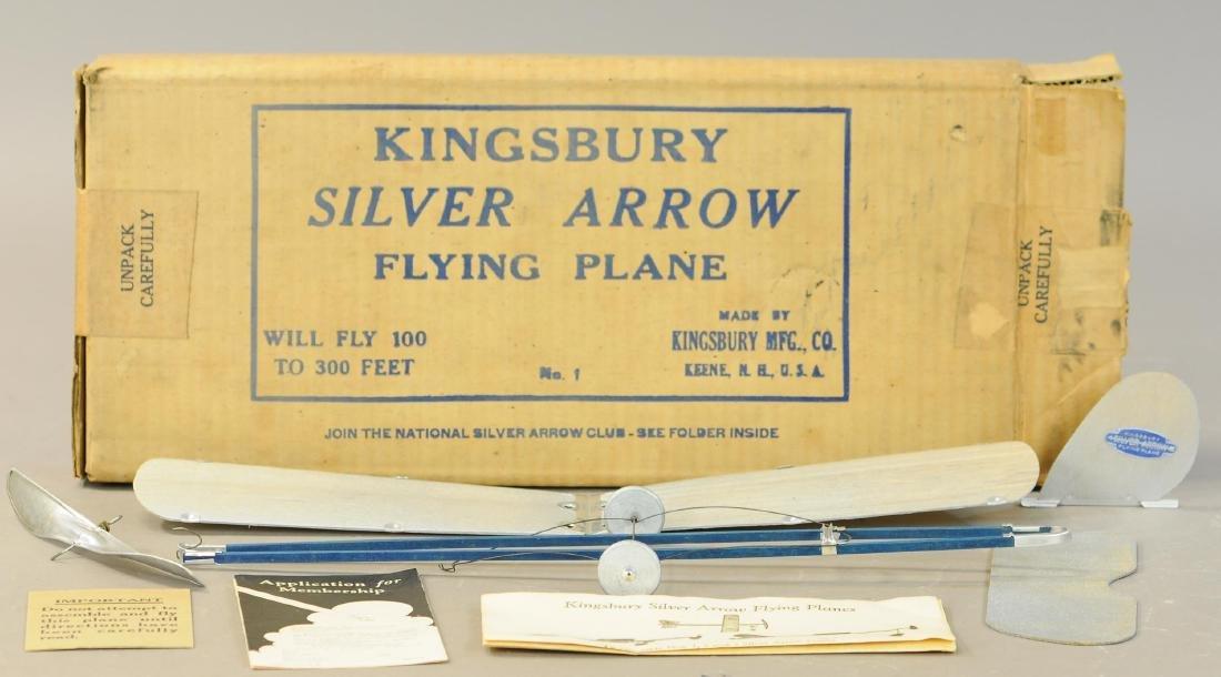 BOXED KINGSBURY SILVER ARROW AIRPLANE