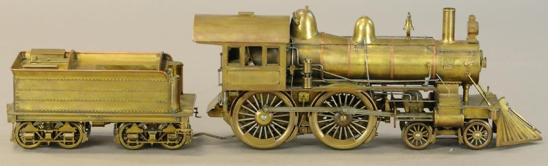 BRASS STANDARD GAUGE MODEL LOCOMOTIVE