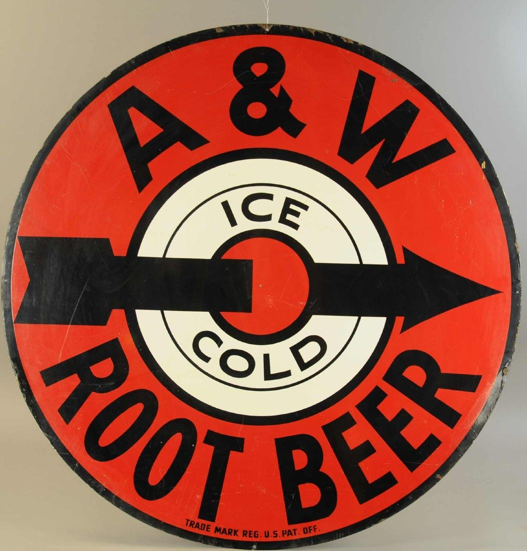 A&W ICE COLD ROOTBEER SIGN