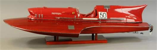 FERRARI SCALE MODEL RACE BOAT
