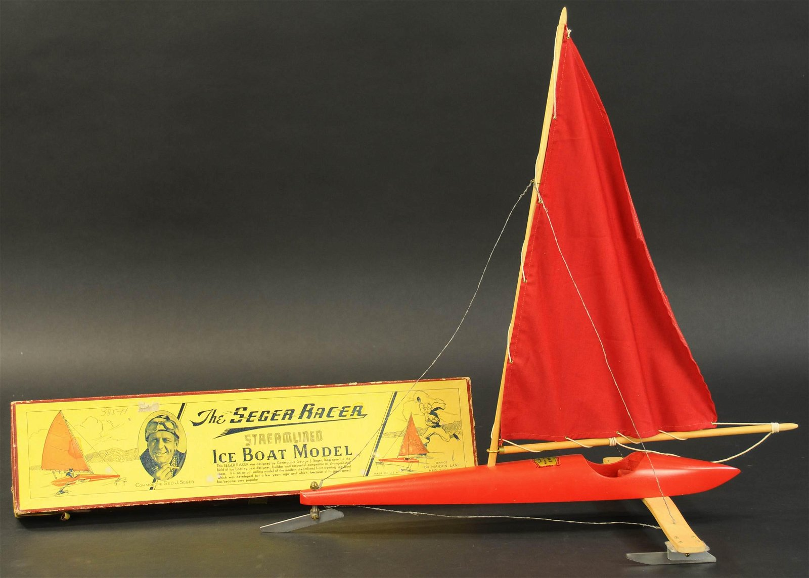 BOXED SEGER RACING ICE BOAT