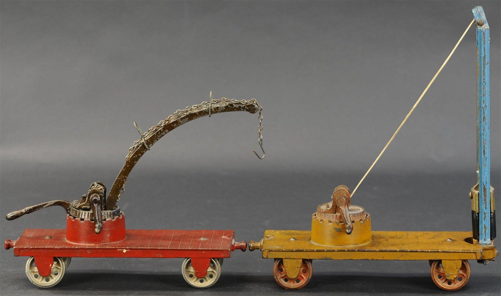 PAIR OF ARCADE WORK TRAIN CARS