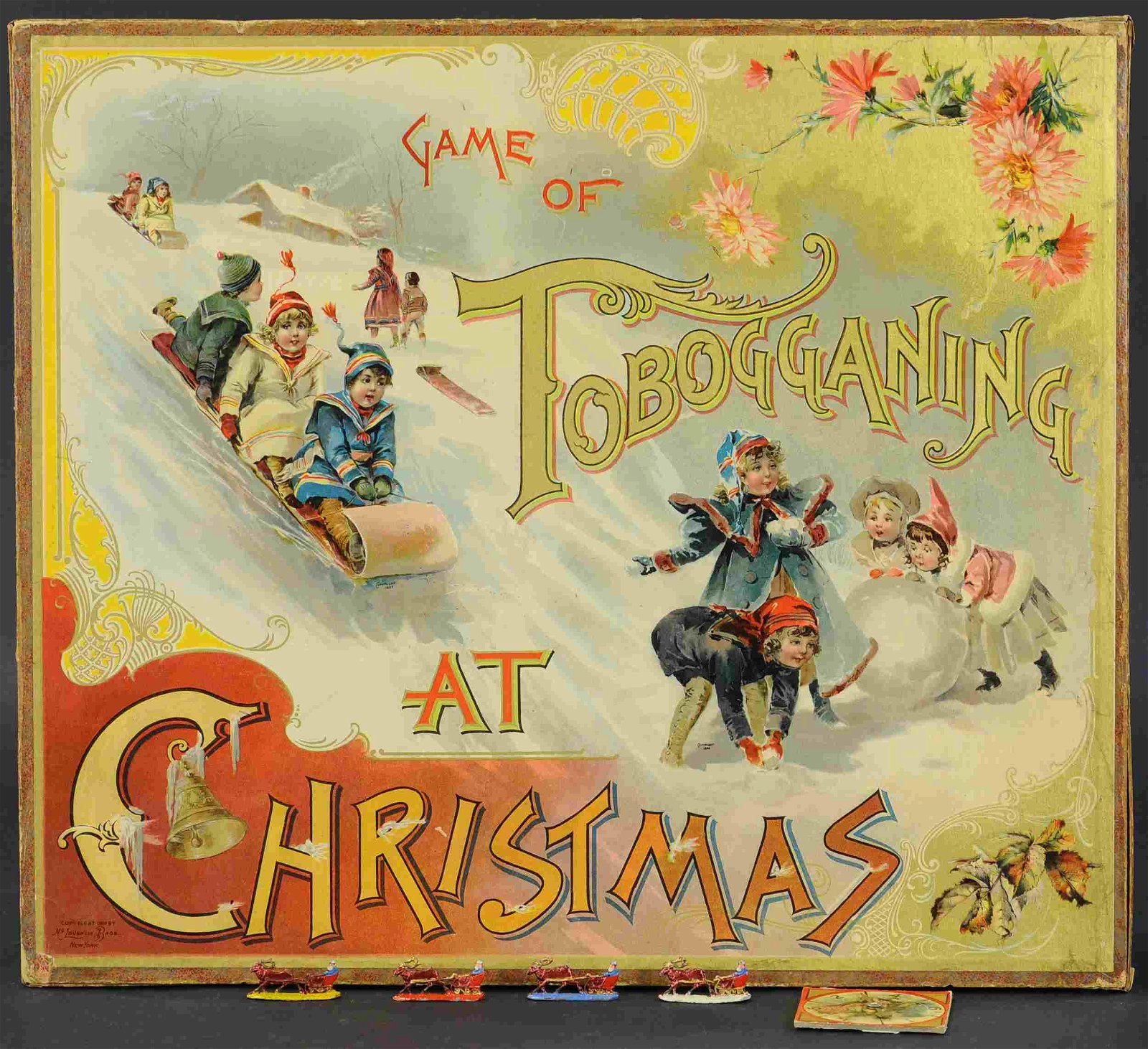THE GAME OF TOBOGGANING AT CHRISTMAS